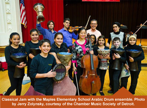 Clasiscal Jam with the Maples Elementary School Arabic Drum ensemble.
