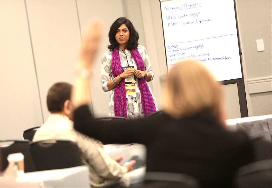 Heena Patel leads a workshop at the 2017 Conference in Columbus, Ohio