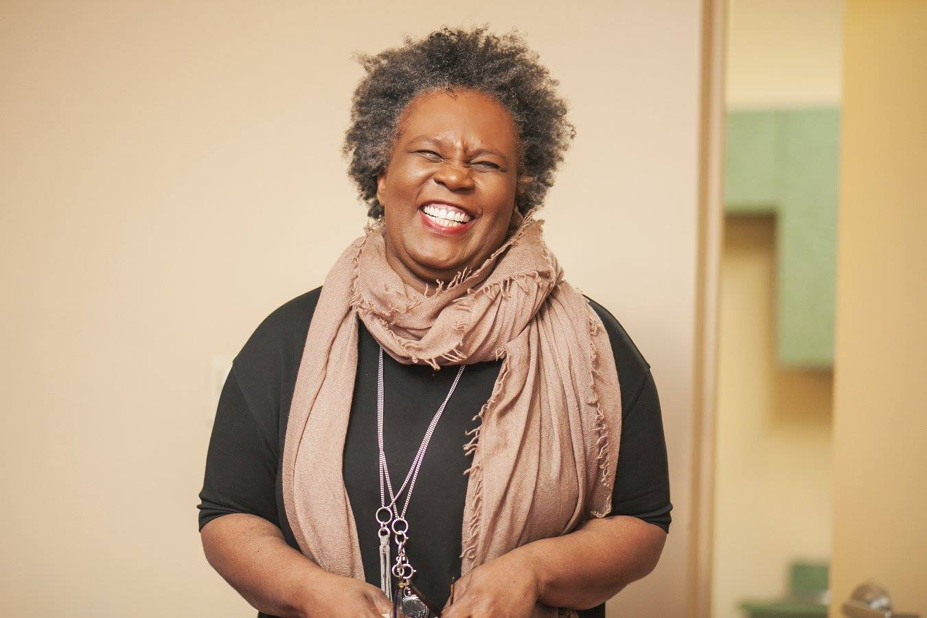 Claudia Rankine laughing