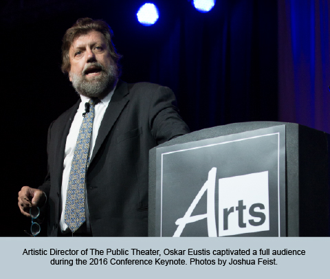 Keynote speaker Oskar Eustis captivated a full audience at the 2016 Conference Keynote. Photos by Joshua Feist.