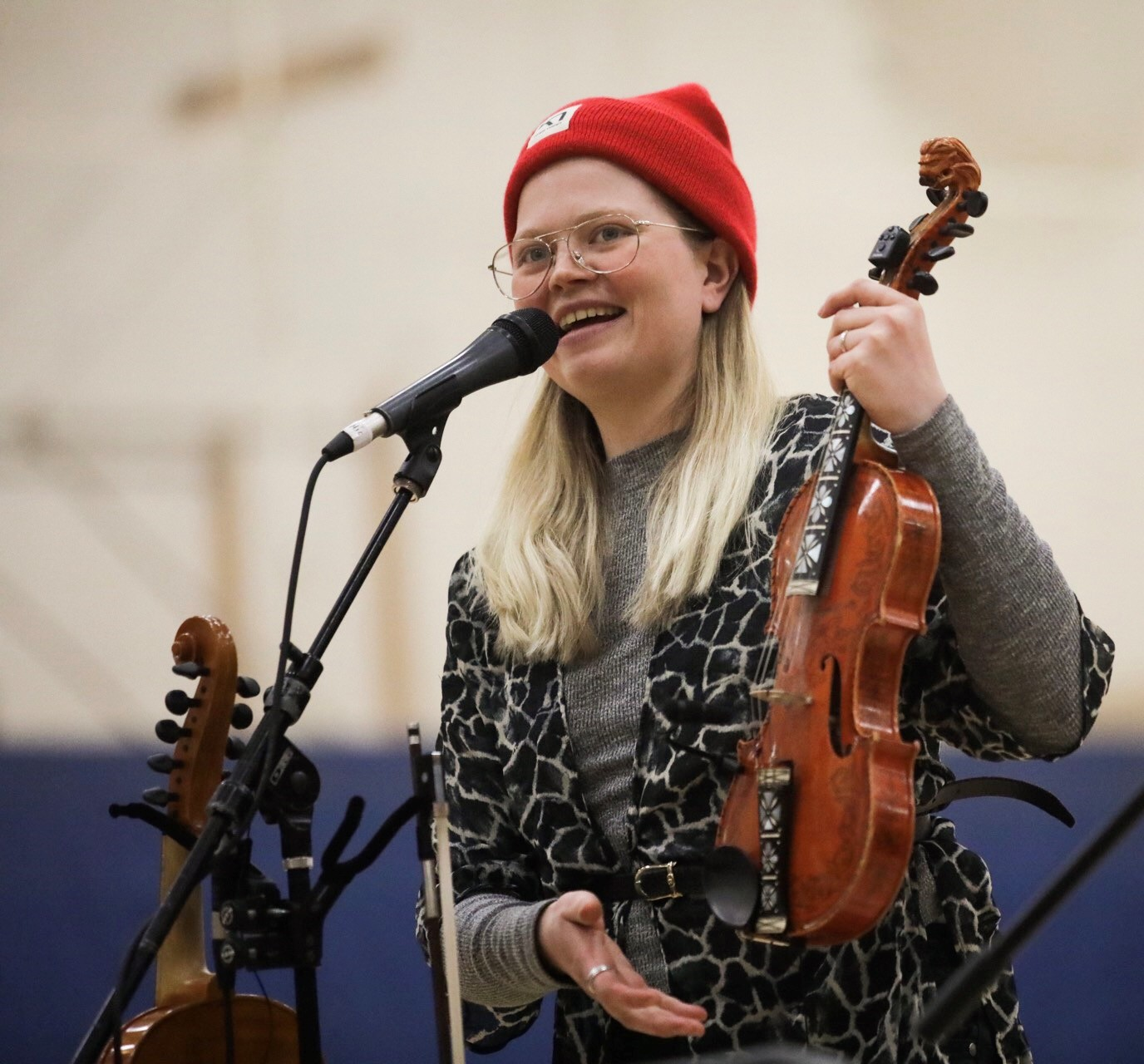 Guro Kvifte Nesheim explains the Hardanger Fiddle