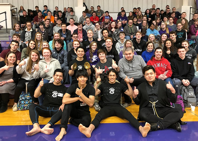 Big thumbs up at Lanesville High School.