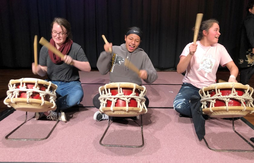 What an amazing experience! Students were so excited to drum. They all said it's a hard work.