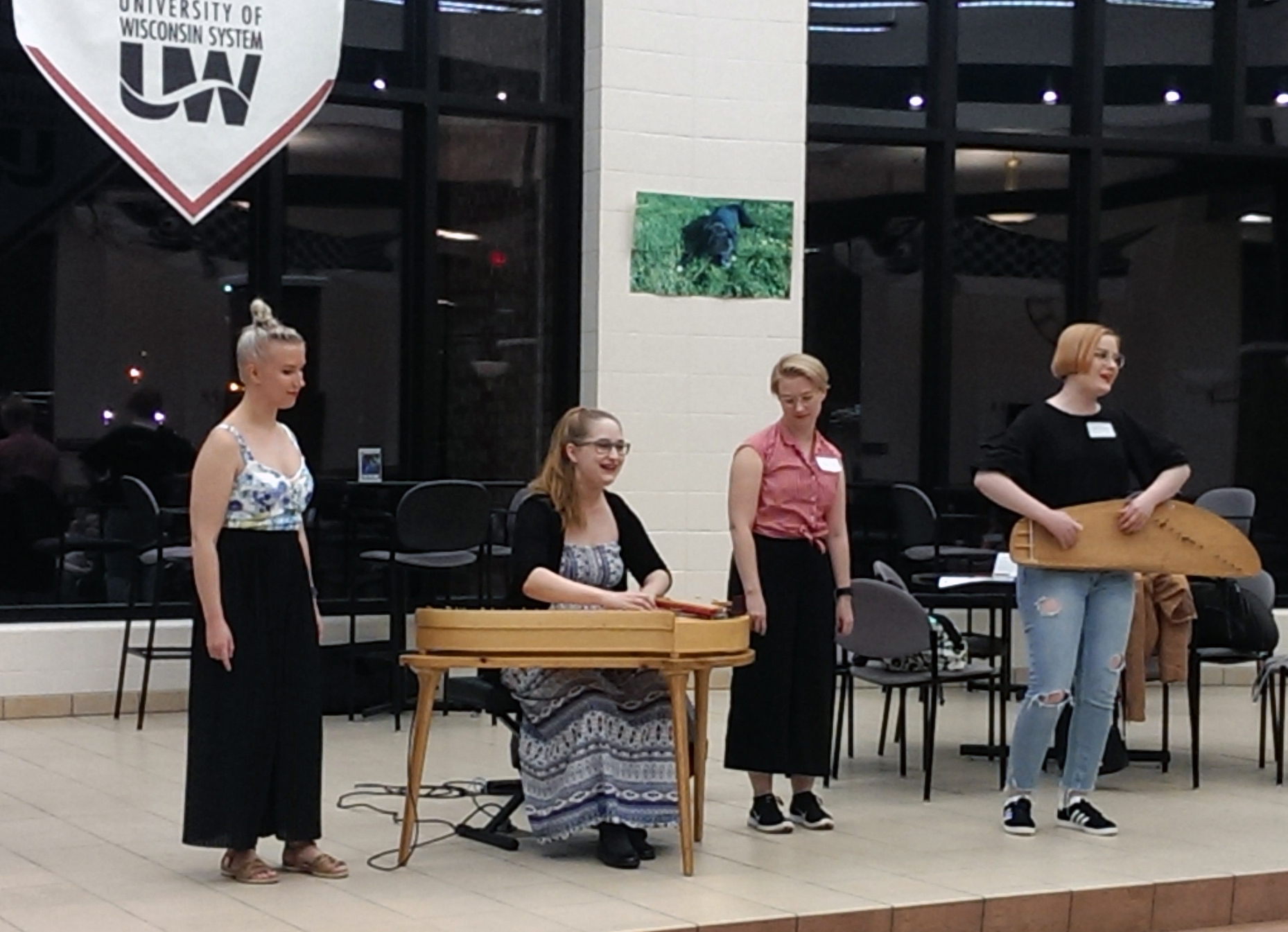 Kardemimmit performs at an evening welcome reception at the University of Wisconsin-Barron County, WI.