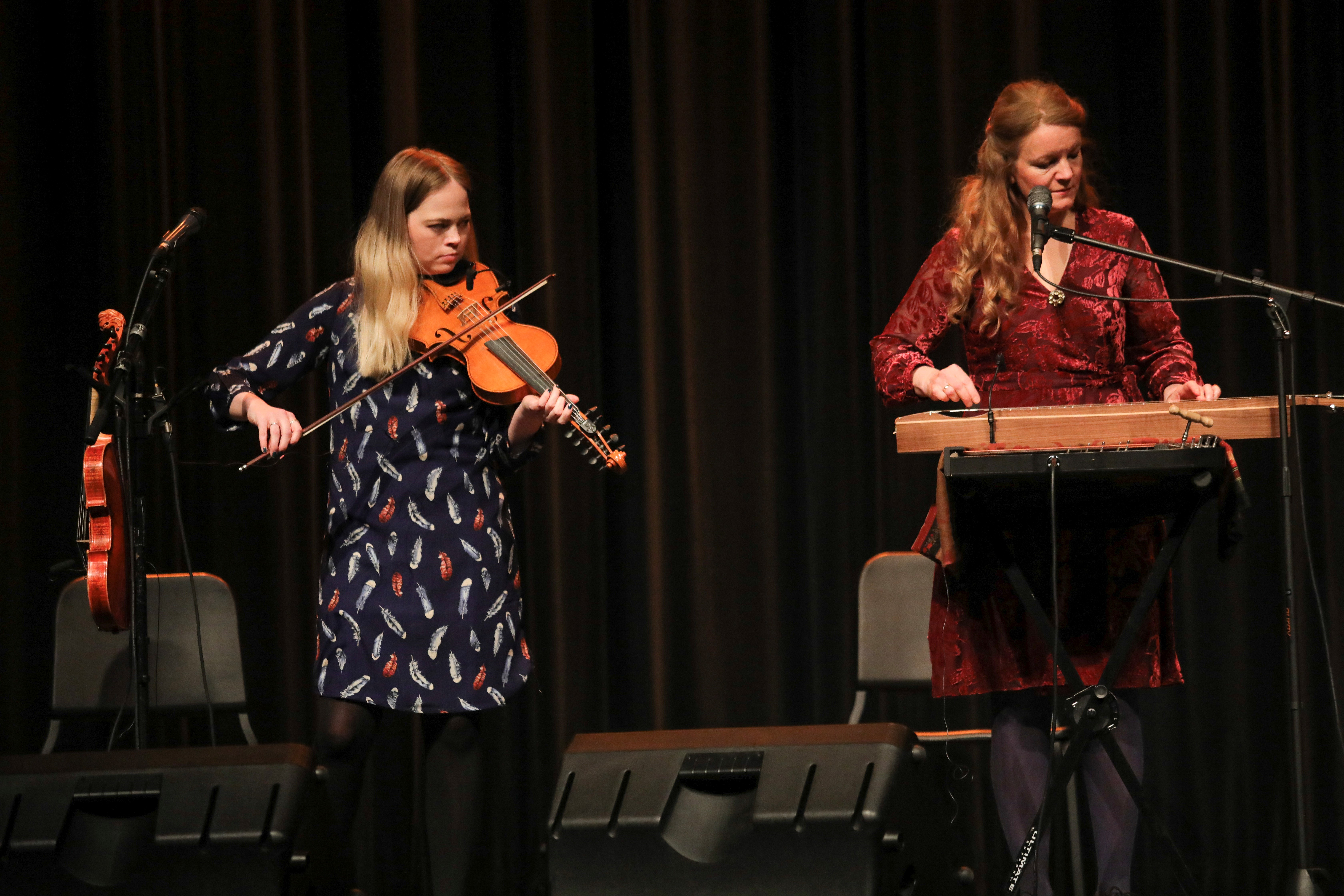 Unni and Guro perform a lovely duet at the public concert in Dickinson.