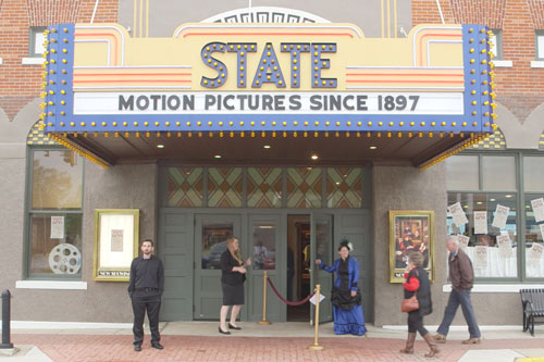 State theater marquee & facade from Saving Brinton