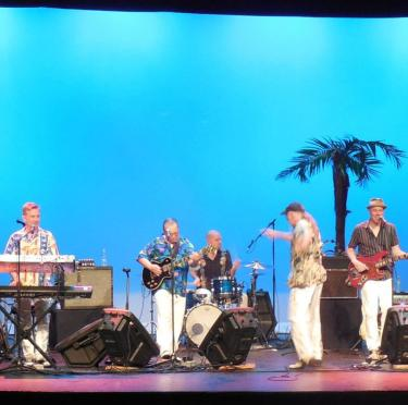Phil Dirt and the Dozers performing at Calumet Theatre.