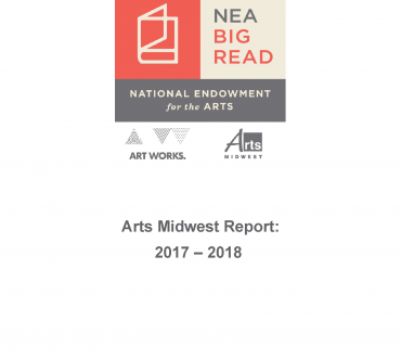 the cover page to the NEA Big Read 2017-2018 Final Report, depicting the NEA Big Read logo