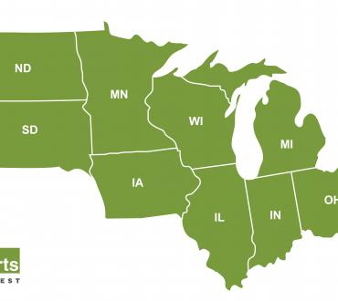 Map of the Midwest Region