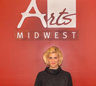 Dessa in the Arts Midwest offices