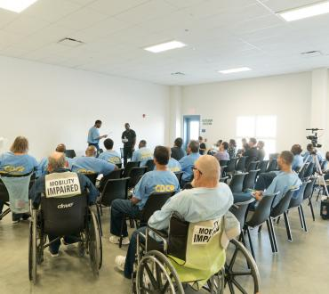 inmates at Donovan Prison in San Diego