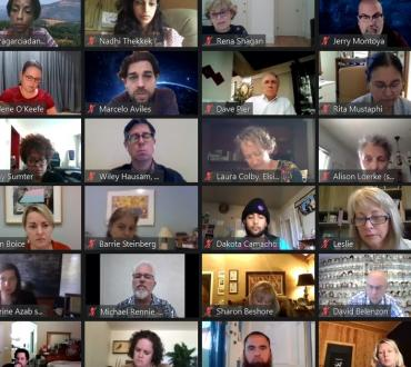 People on a zoom screen