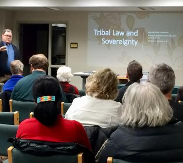 Tribal lawyer, Michael Garbow talking about tribal law and sovereignty
