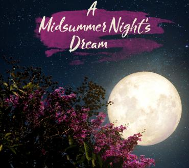 Moon shining over a tree for the production of A Midsummer Night's Dream produced by Alliance Theater.