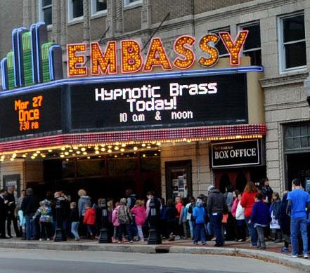 Embassy Theatre Marquee featuring Hypnotic Brass Ensemble