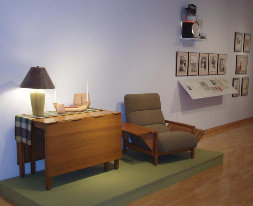 Installation of Russel Wright: Living with Good Design at the Columbus Museum of Art & Design