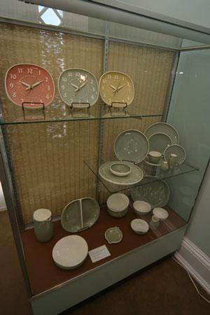 Display case at the Decorative Arts Center of Ohio